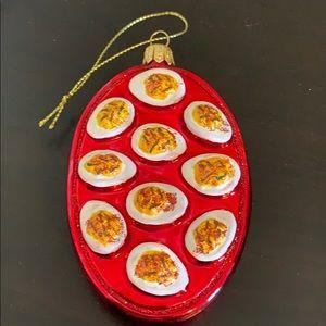 Sur La Table Deviled Eggs ornament new